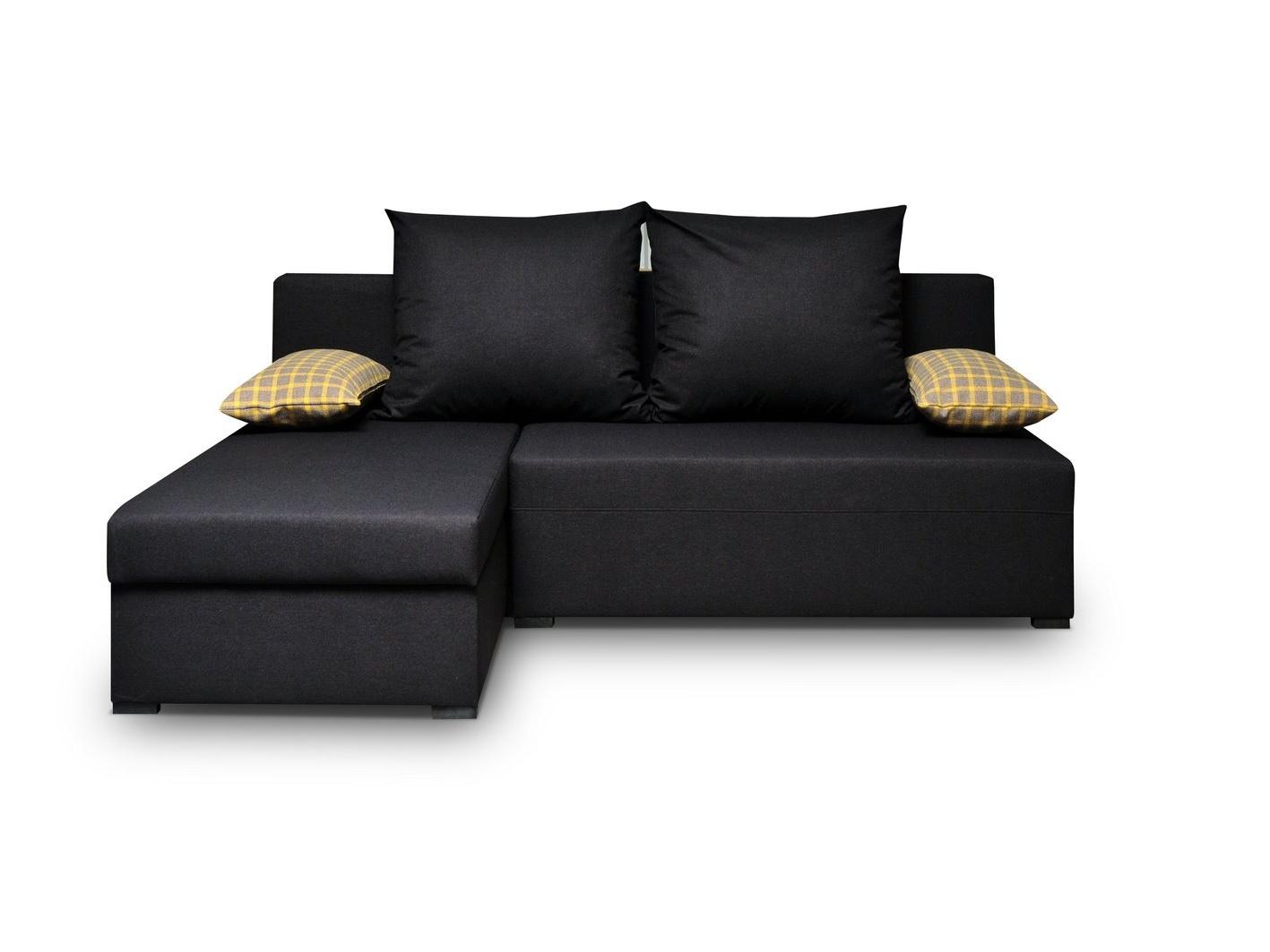Smartshop Rohová sedačka SANO 3, černá látka