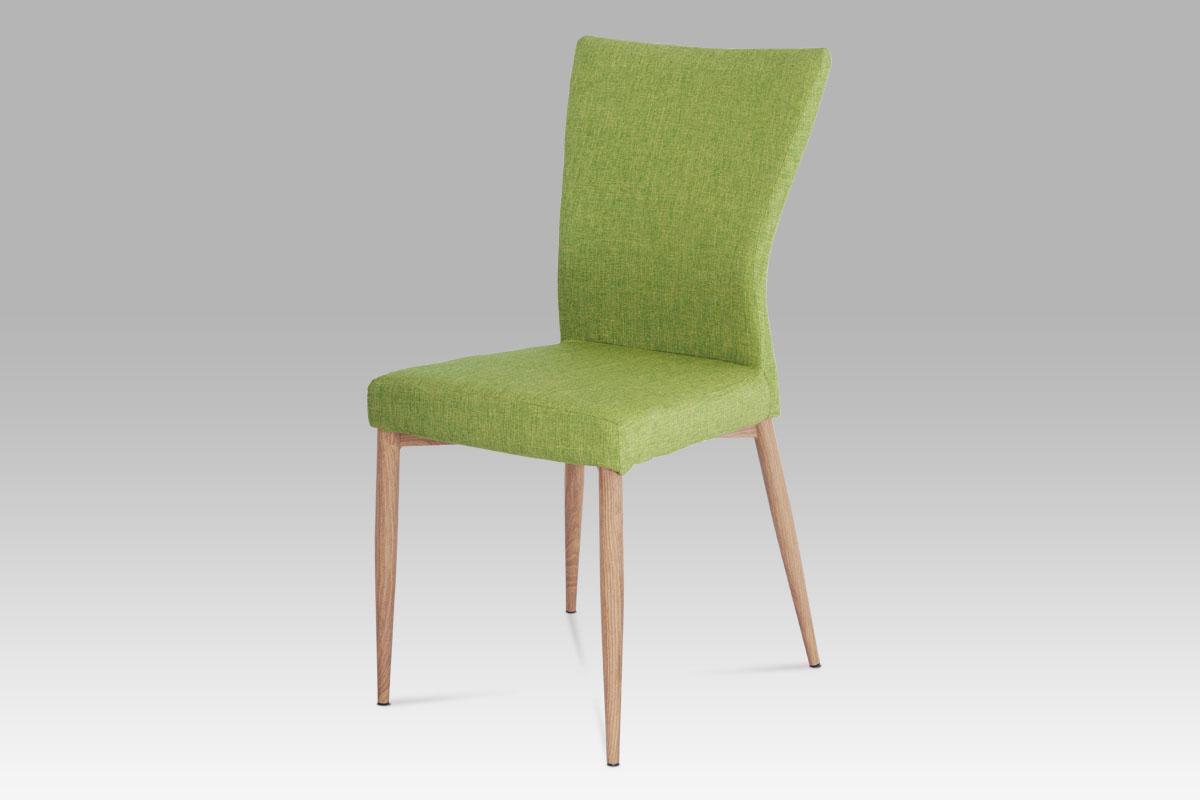 Autronic Jídelní židle AC-1116 GRN2, látka zelená / natural
