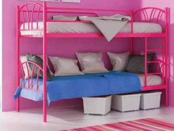 ORFA MIX MARTI patrová postel, růžová