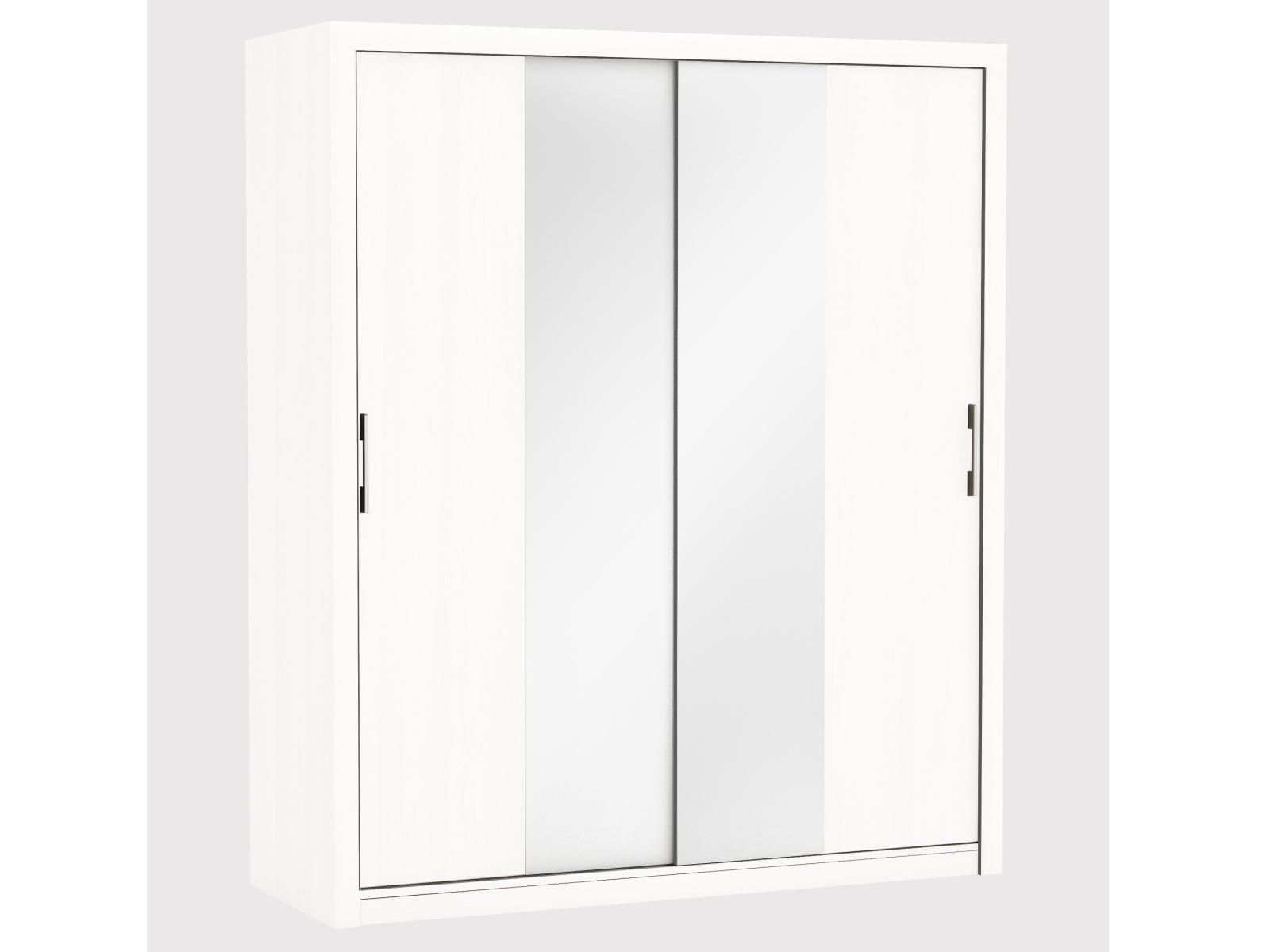 PRETTY2 2 skříň se zrcadlem 170, bílá 2 skříň se zrcadlem 170, bílá