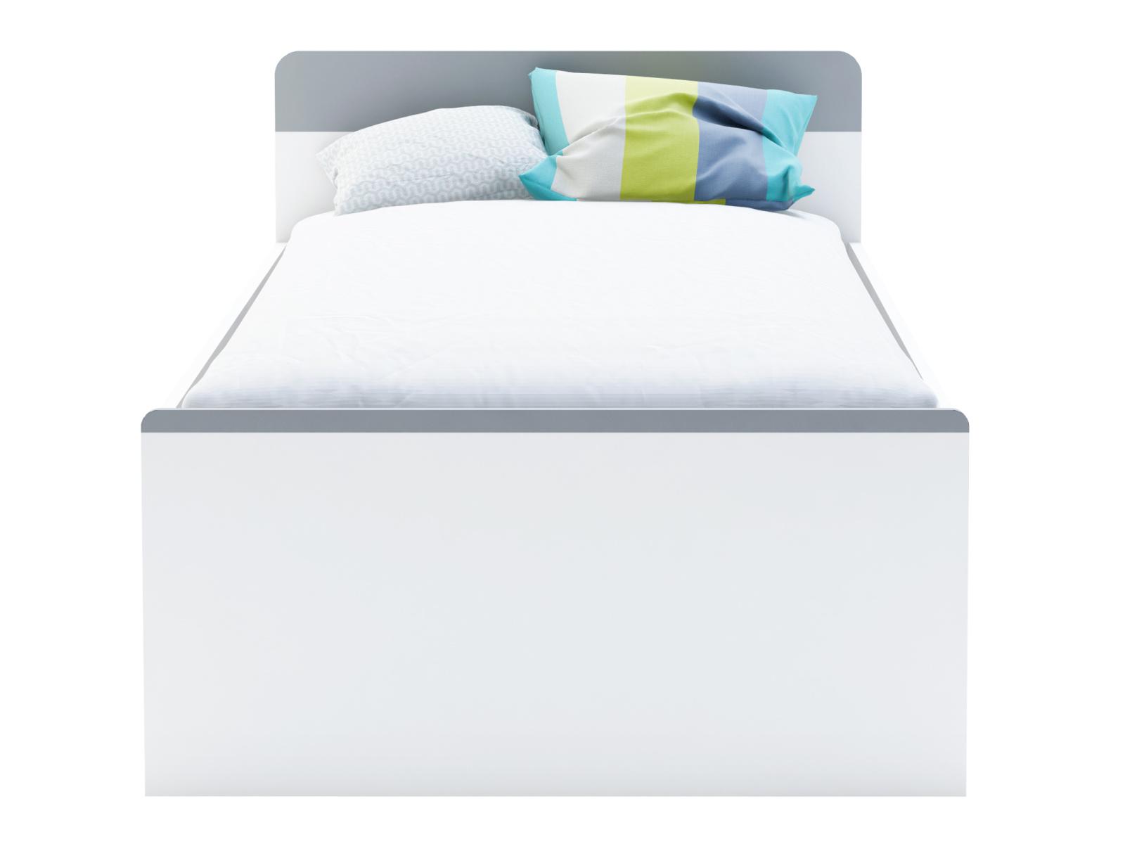 DEMEYERE FALOU postel 90x190/200, bílá/šedá