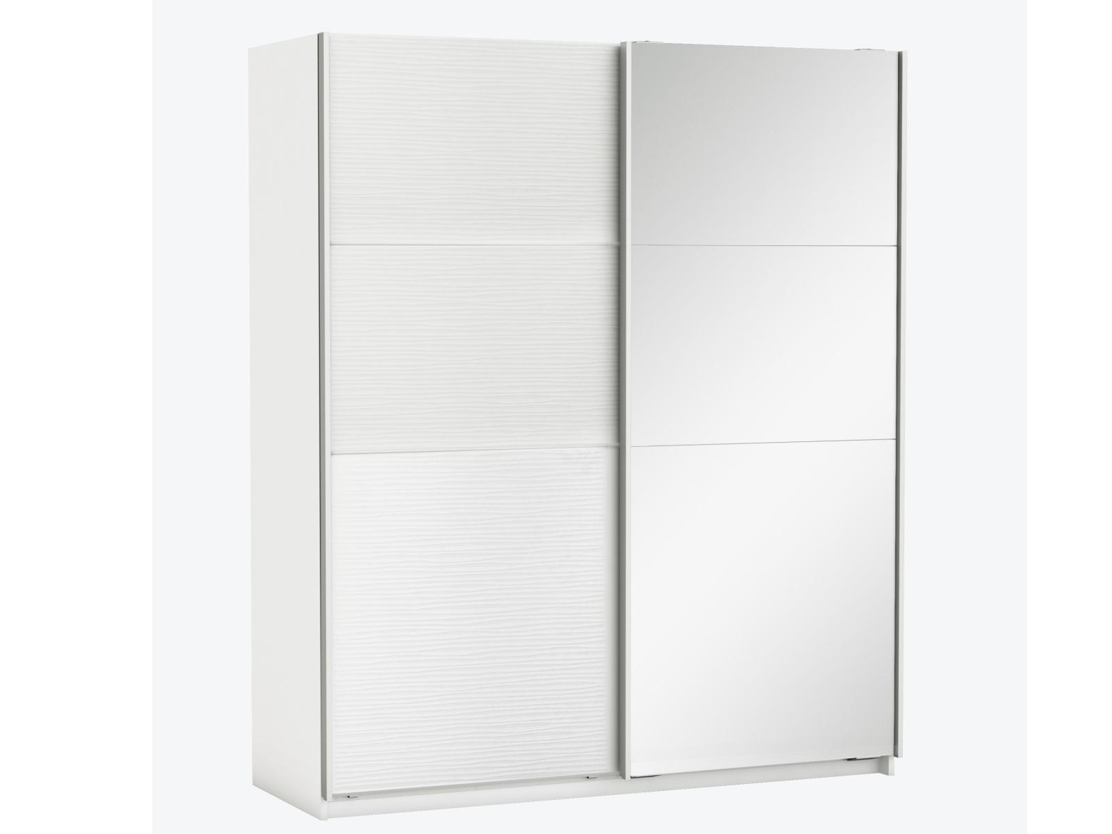 DEMEYERE SLAIDY skříň se zrcadlem, bílá