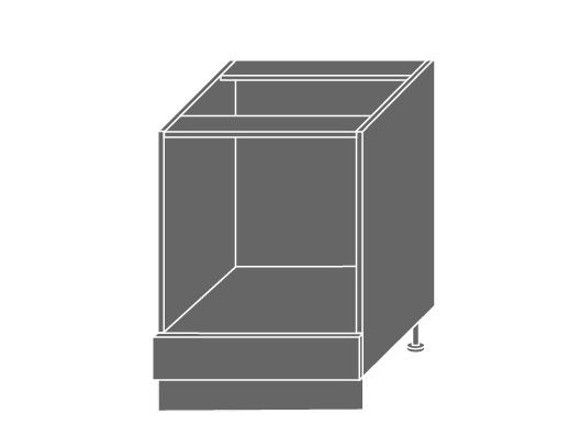 Extom PLATINUM, skříňka dolní D11k 60, korpus: lava, barva: white stripes