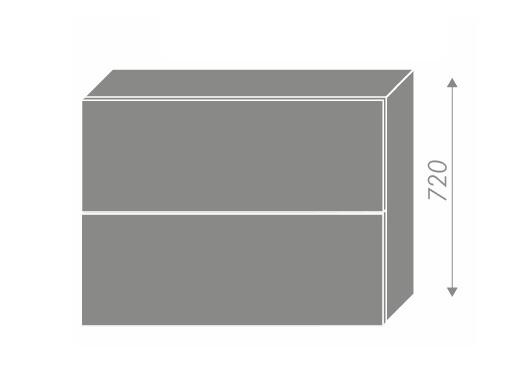Extom PLATINUM, skříňka horní W8B 90 AV, korpus: bílý, barva: deep red