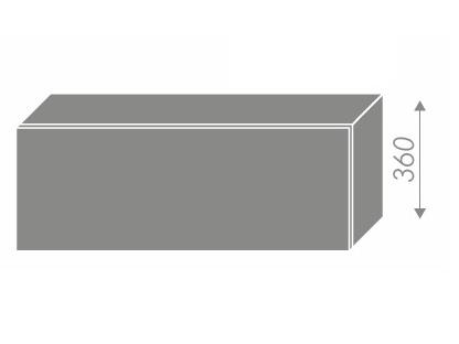 Extom PLATINUM, skříňka horní W4b 90, korpus: bílý, barva: deep red