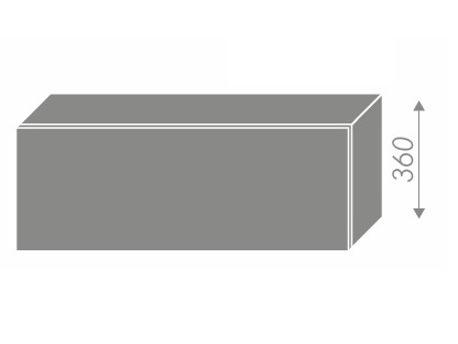 Extom PLATINUM, skříňka horní W4b 90, korpus: grey, barva: deep red