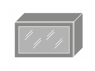 Extom QUANTUM, skříňka horní prosklená W4bs 60 ALU, bílá