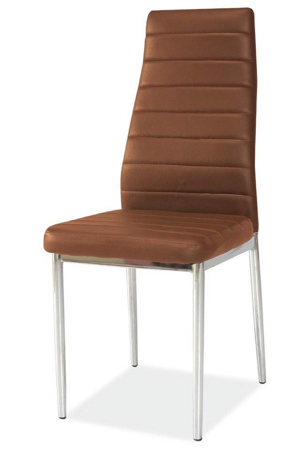 Smartshop Jídelní čalouněná židle HRON-261, hnědá/chrom