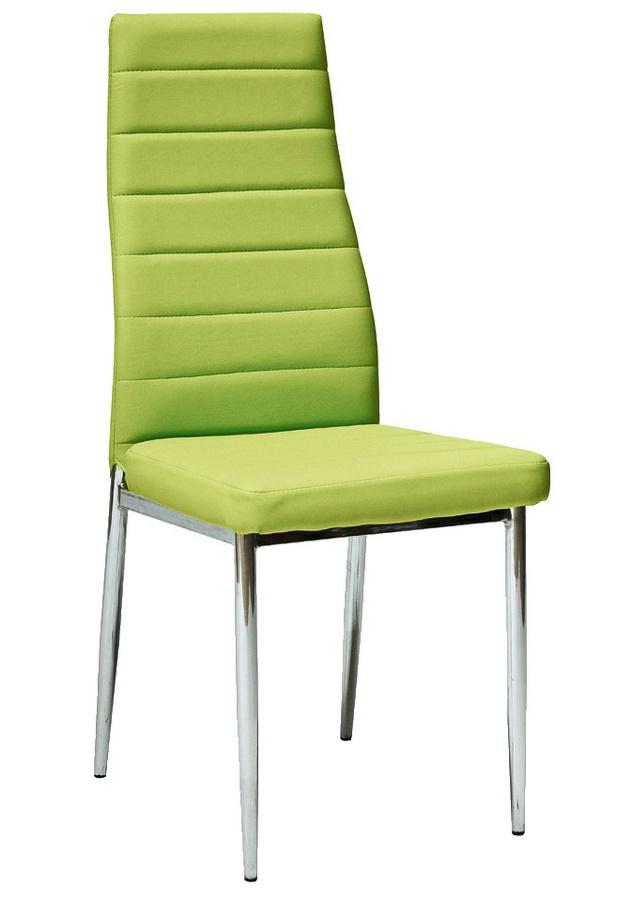 Smartshop Jídelní čalouněná židle HRON-261, zelená/chrom