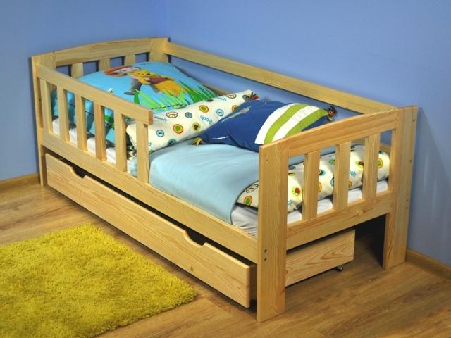 MAGNAT Dětská postel ALA 70x160 cm s roštem, masiv borovice/moření:
