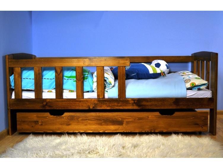 MAGNAT Dětská postel ALA 70x160 cm s roštem, masiv borovice/moření dub