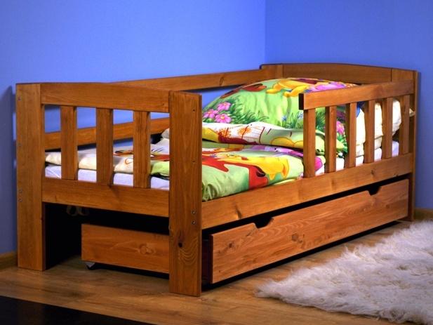 MAGNAT Dětská postel ALA 70x160 cm s roštem, masiv borovice/moření olše