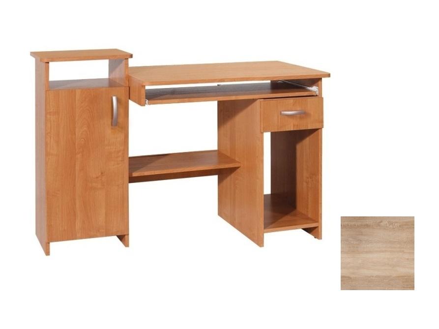 MORAVIA FLAT PLUS PC stůl se zásuvkou a skříňkou, barva: dub sonoma