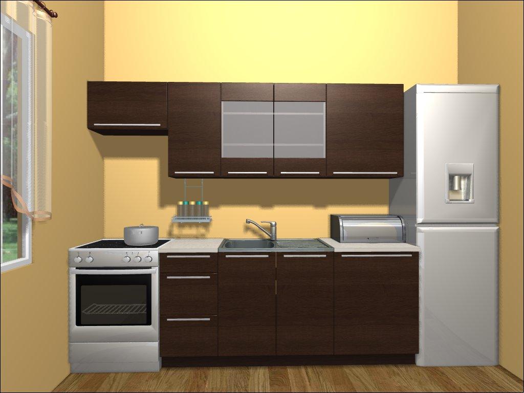 Smartshop Kuchyně IRIS 180/240 cm, dub sonoma hnědý