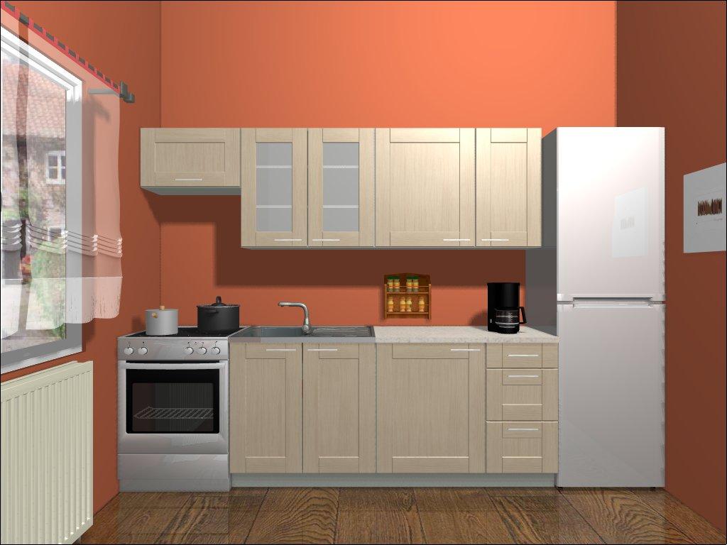 Smartshop Kuchyně PLATE 180/240 cm, dub bělený