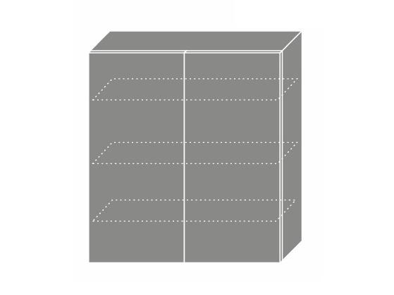 Extom PLATINUM, skříňka horní W4 90, korpus: grey, barva: deep red