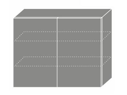 Extom PLATINUM, skříňka horní W3 90, korpus: grey, barva: deep red