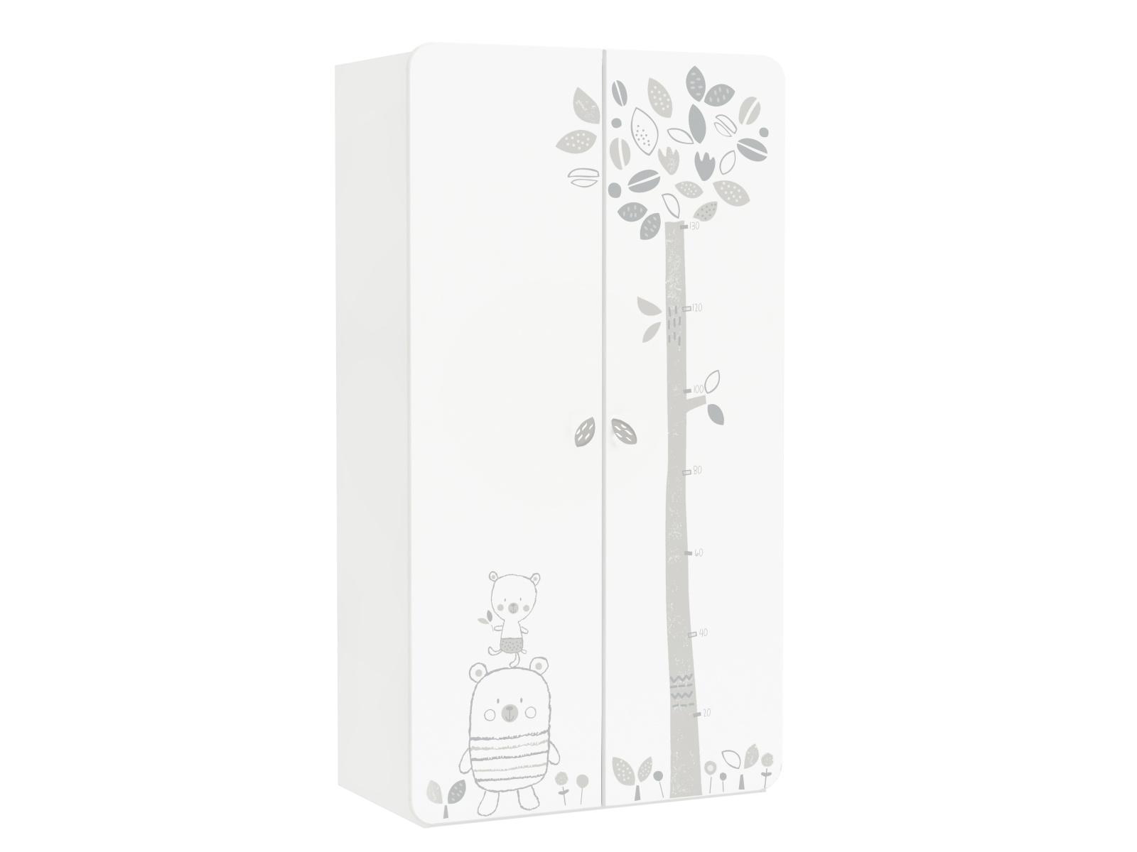 DEMEYERE BAER dětská skříň, bílá s obrázky