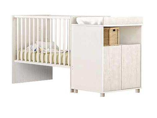 DEMEYERE JOI rostoucí postel 60x120 a 90x200 cm, bílá/borovice andersen