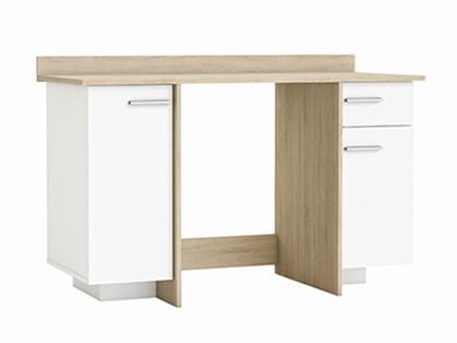 DEMEYERE THOLE psací stůl, bílá/dub sonoma