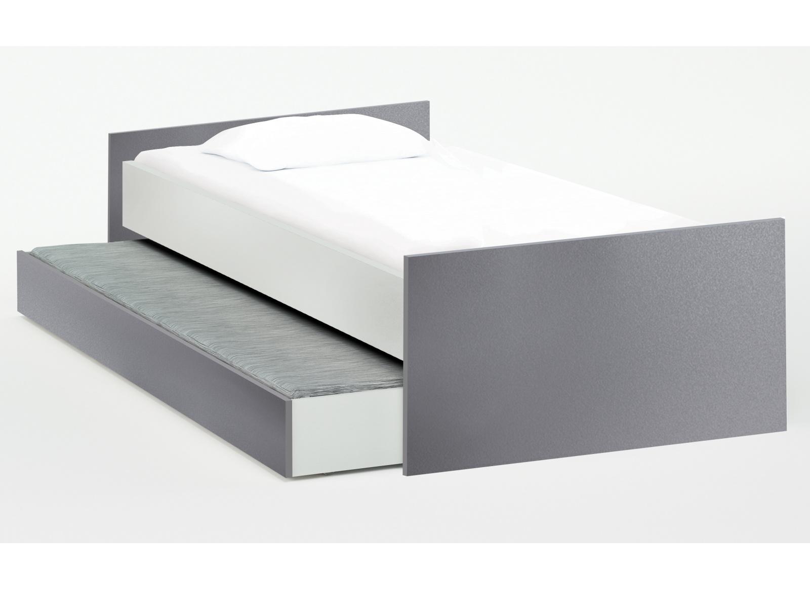 DEMEYERE HAIDI úložný prostor pod postel 90x200 cm, bílá/grafit