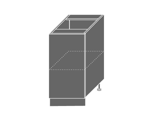 Extom TITANIUM, skříňka dolní D1D 40, korpus: bílý, barva: fino černé