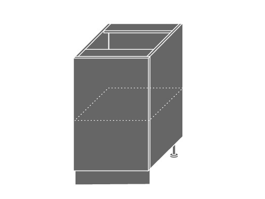 Extom TITANIUM, skříňka dolní D1D 50, korpus: bílý, barva: fino černé