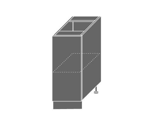 Extom TITANIUM, skříňka dolní D1D 30, korpus: bílý, barva: fino černé
