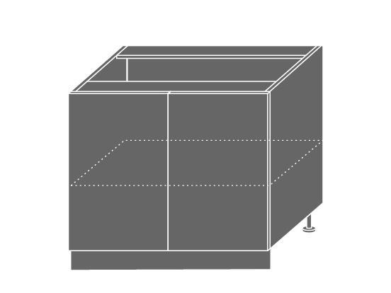 Extom TITANIUM, skříňka dolní D11 90, korpus: bílý, barva: fino černé