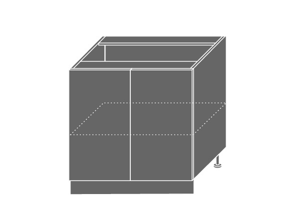 Extom TITANIUM, skříňka dolní D11 80, korpus: lava, barva: fino černé