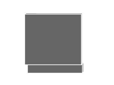 Levně TITANIUM, dvířka pro vestavbu ZM-57/60, sokl: lava, barva: fino černé