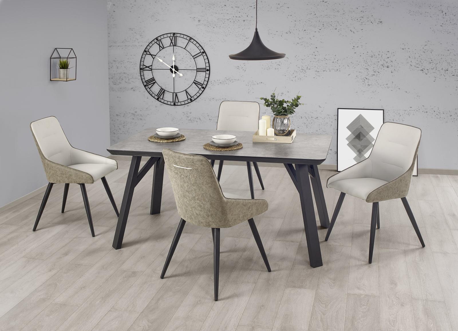 Halmar Jídelní stůl HALIFAX 160x90 cm, jasan/beton