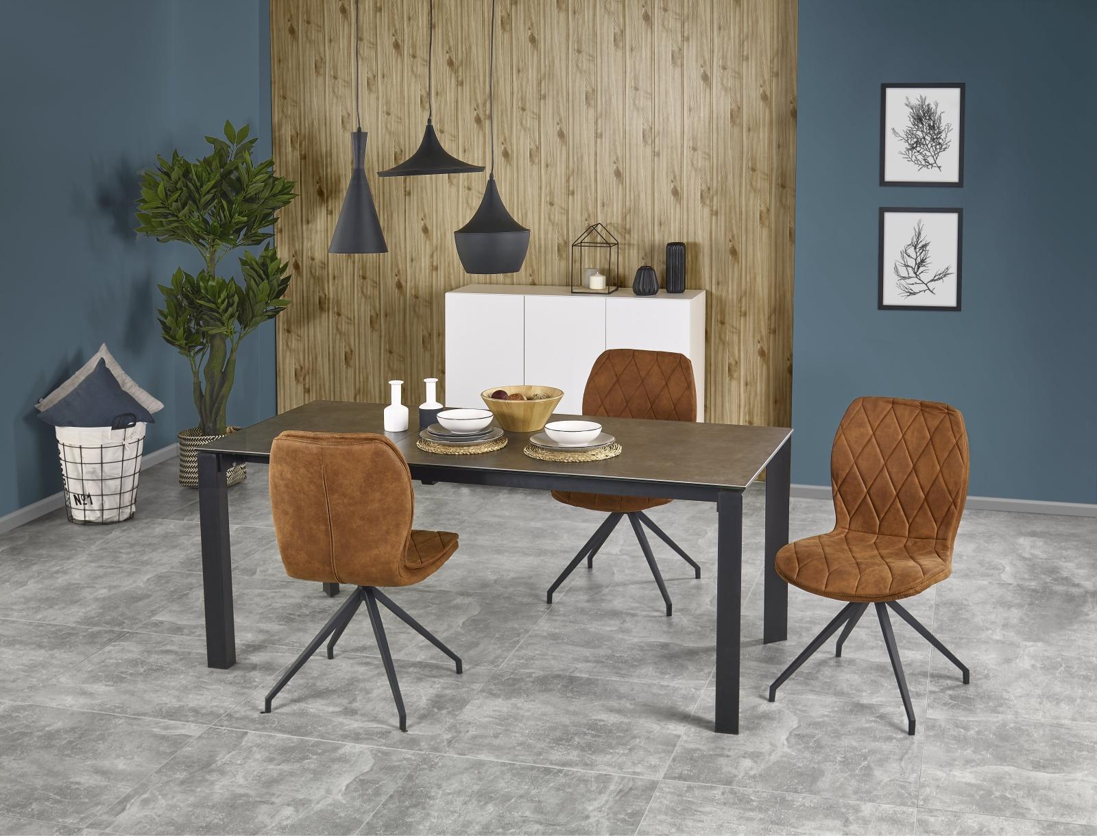 Halmar Jídelní stůl rozkládací HORIZON 120/180x85 cm, šedý