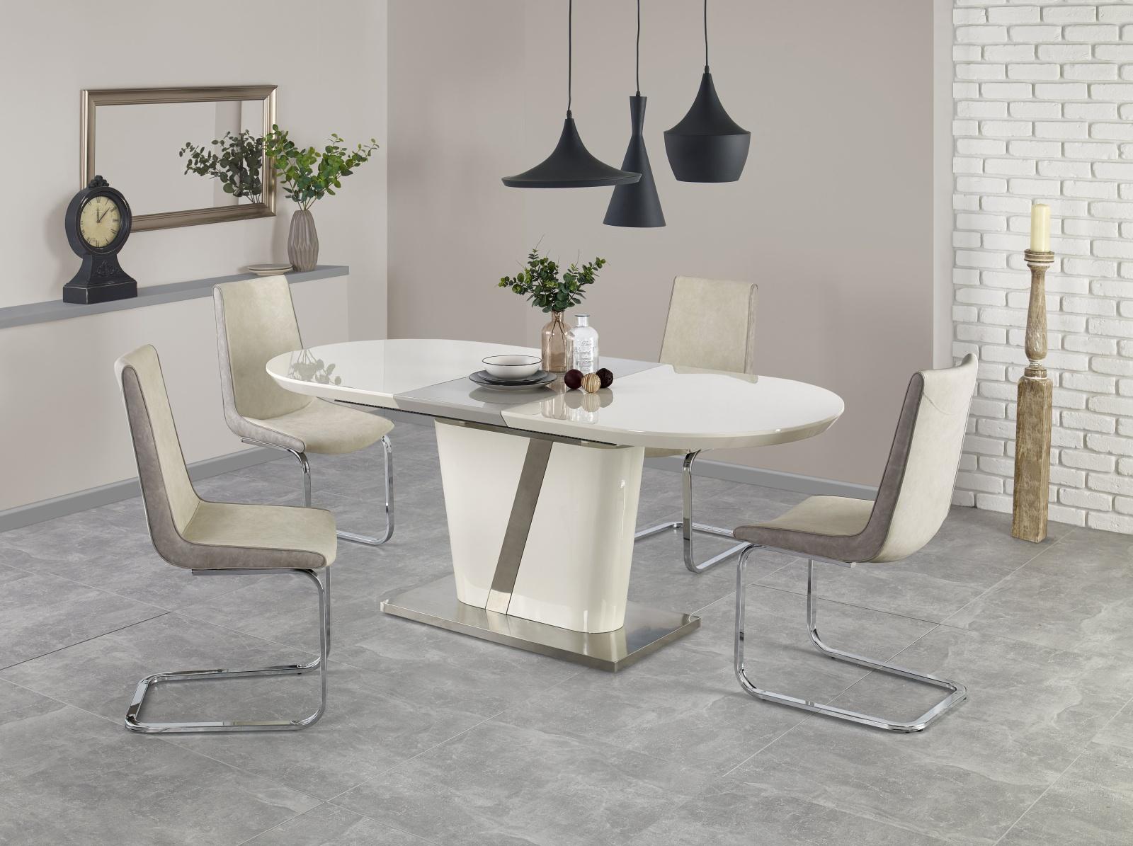 Smartshop Jídelní stůl rozkládací IBERIS 160/200x90 cm, krémový