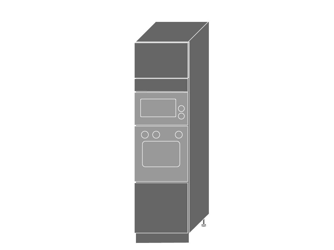Extom TITANIUM, skříňka pro vestavbu D14RU, korpus: jersey, barva: fino černé