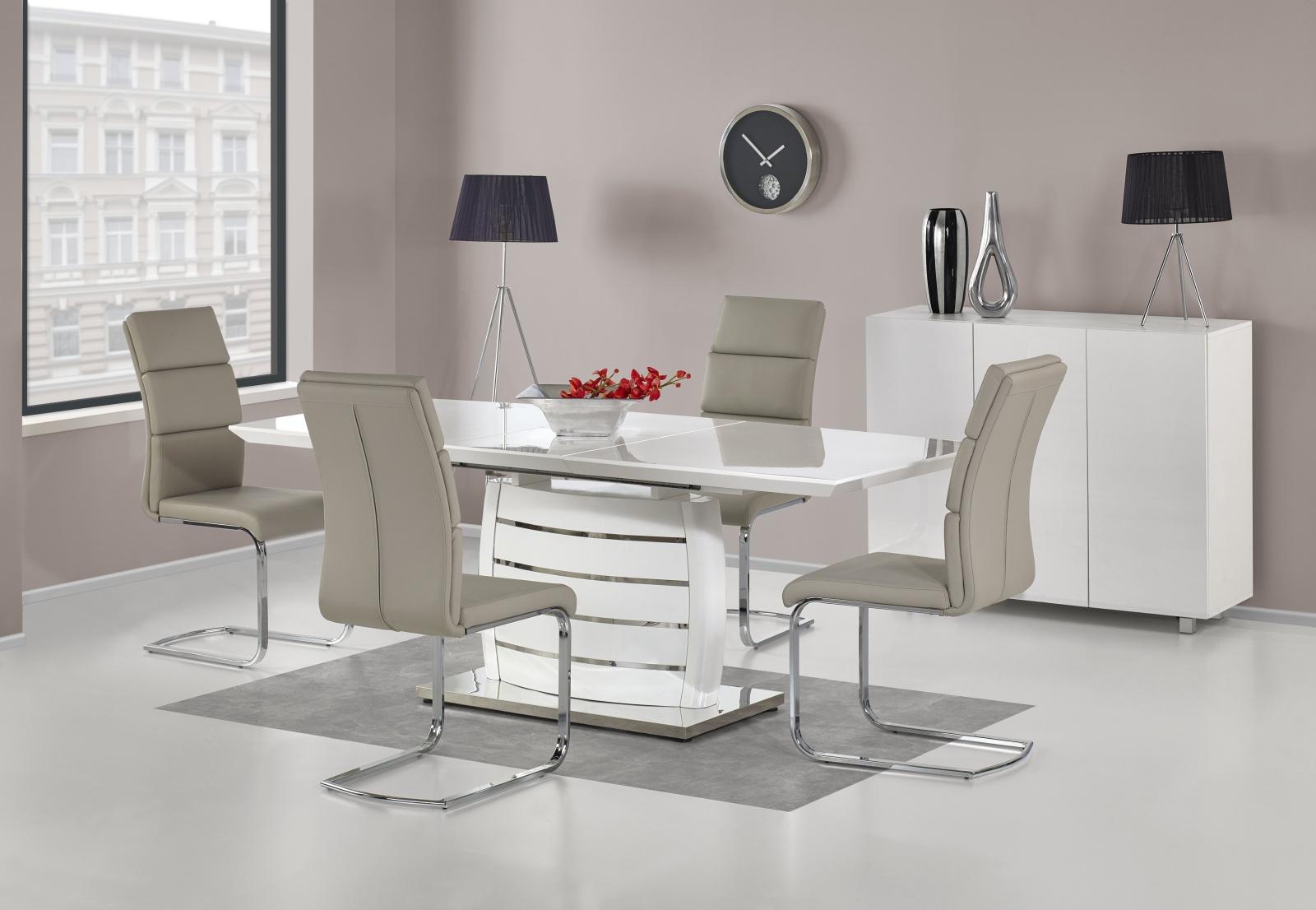 Halmar Jídelní stůl rozkládací ONYX, 160/200x90 cm, bílý