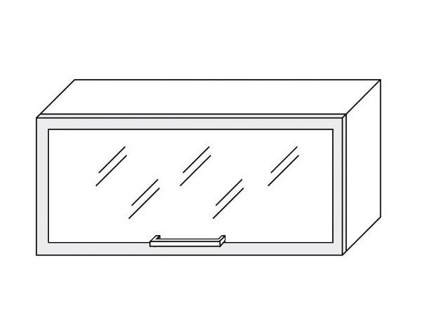 Extom TITANIUM, horní skříňka W4bs 80 MDF, bílá