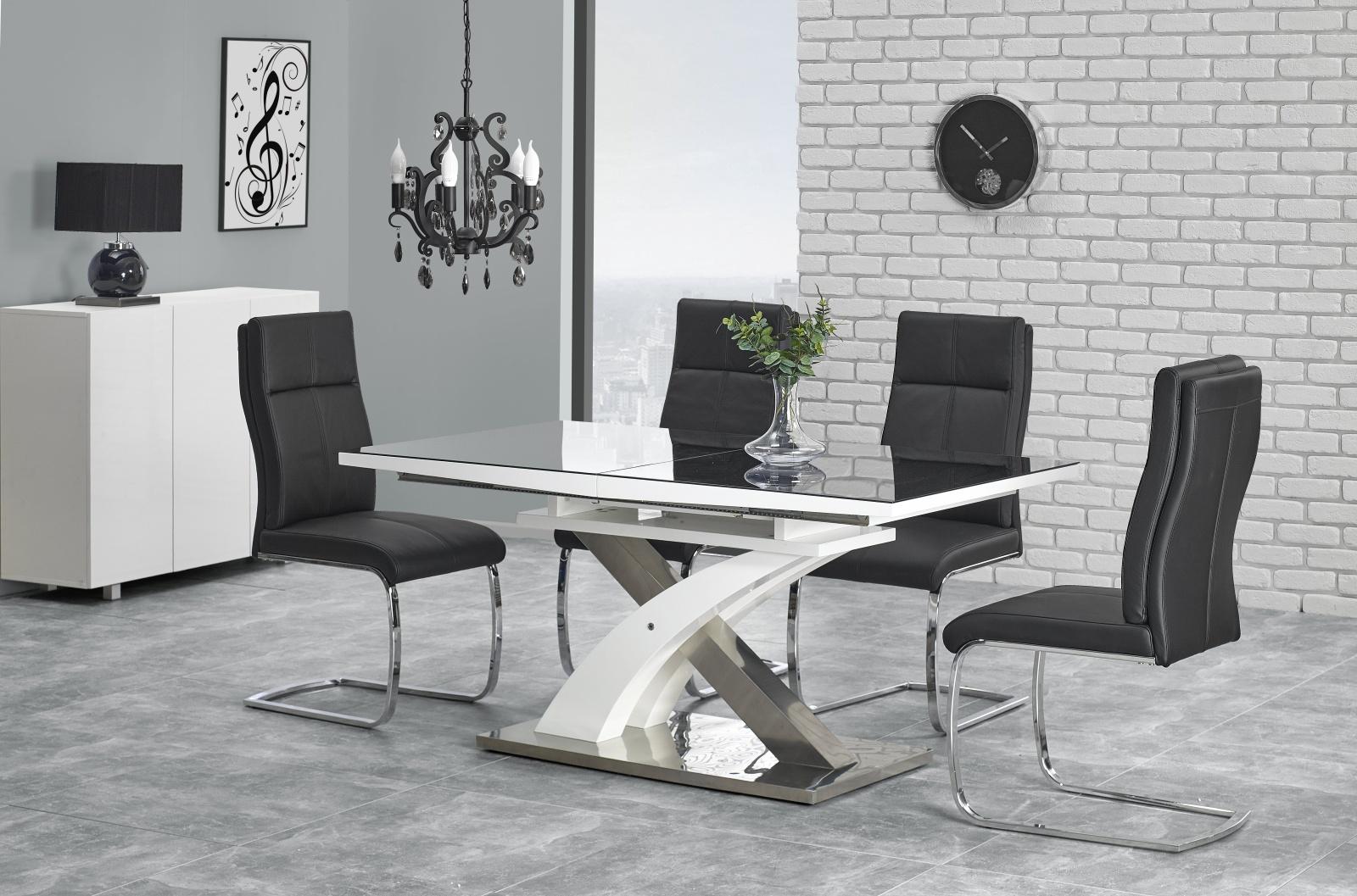 Smartshop Jídelní stůl rozkládací SANDOR 2, 160/220x90 cm, černý