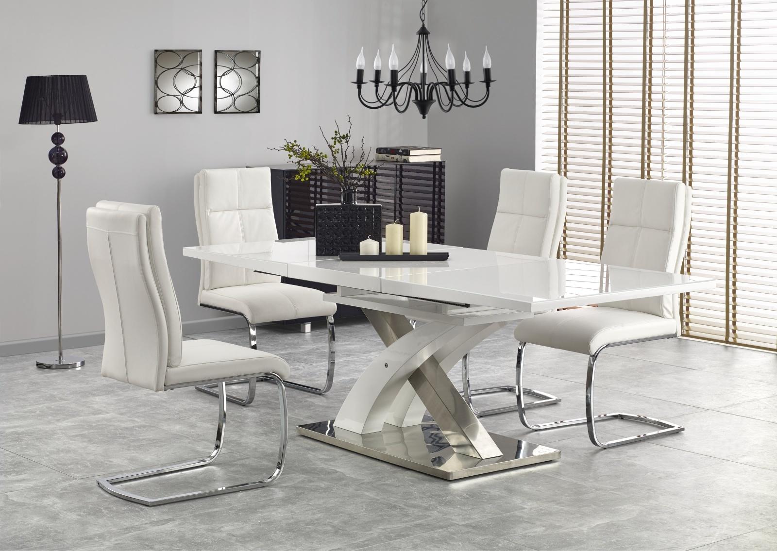 Smartshop Jídelní stůl rozkládací SANDOR 2, 160/220x90 cm, bílý