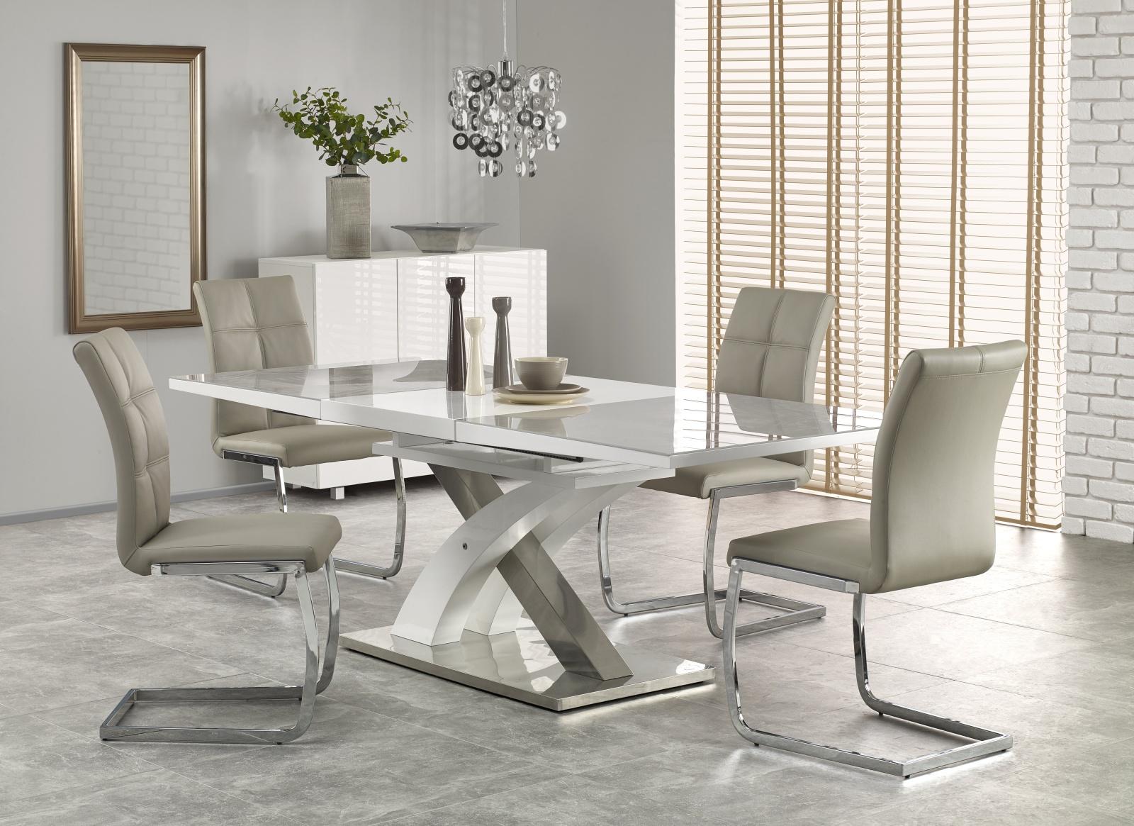 Smartshop Jídelní stůl rozkládací SANDOR 2, 160/220x90 cm, šedý
