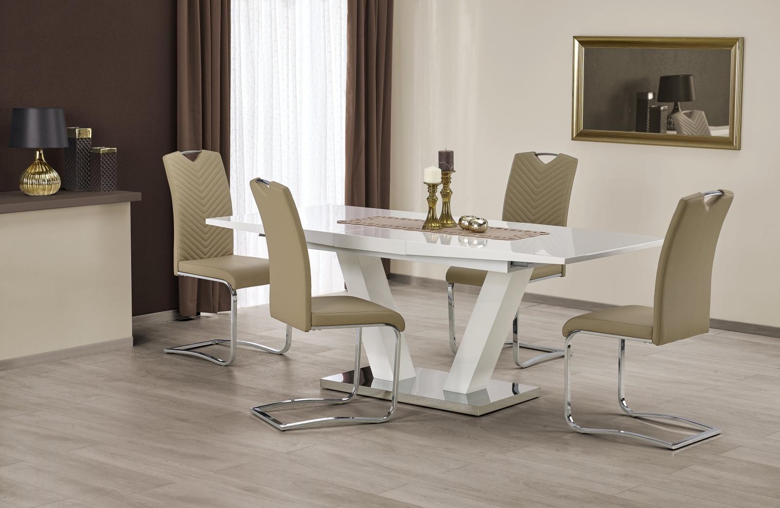 Smartshop Jídelní stůl rozkládací VISION, 160/200x90 cm, bílý