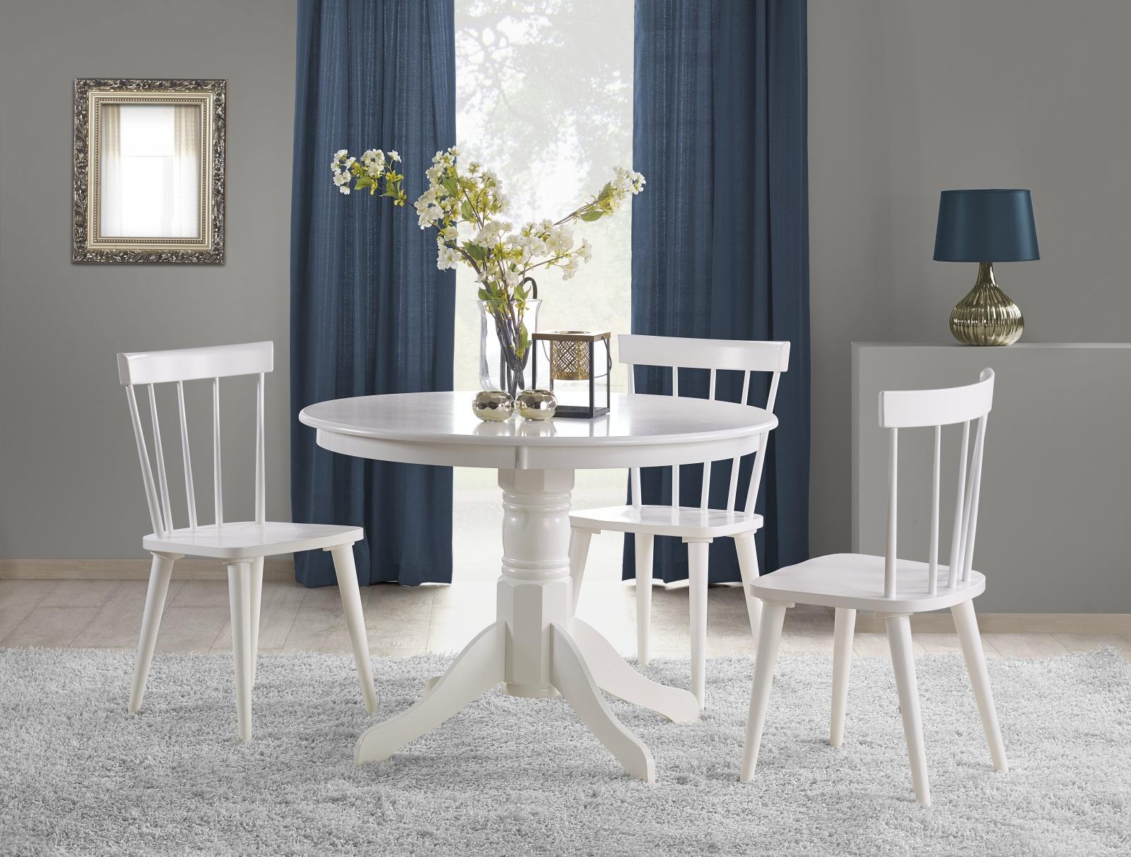 Halmar Jídelní stůl GLOSTER 106 cm, bílý