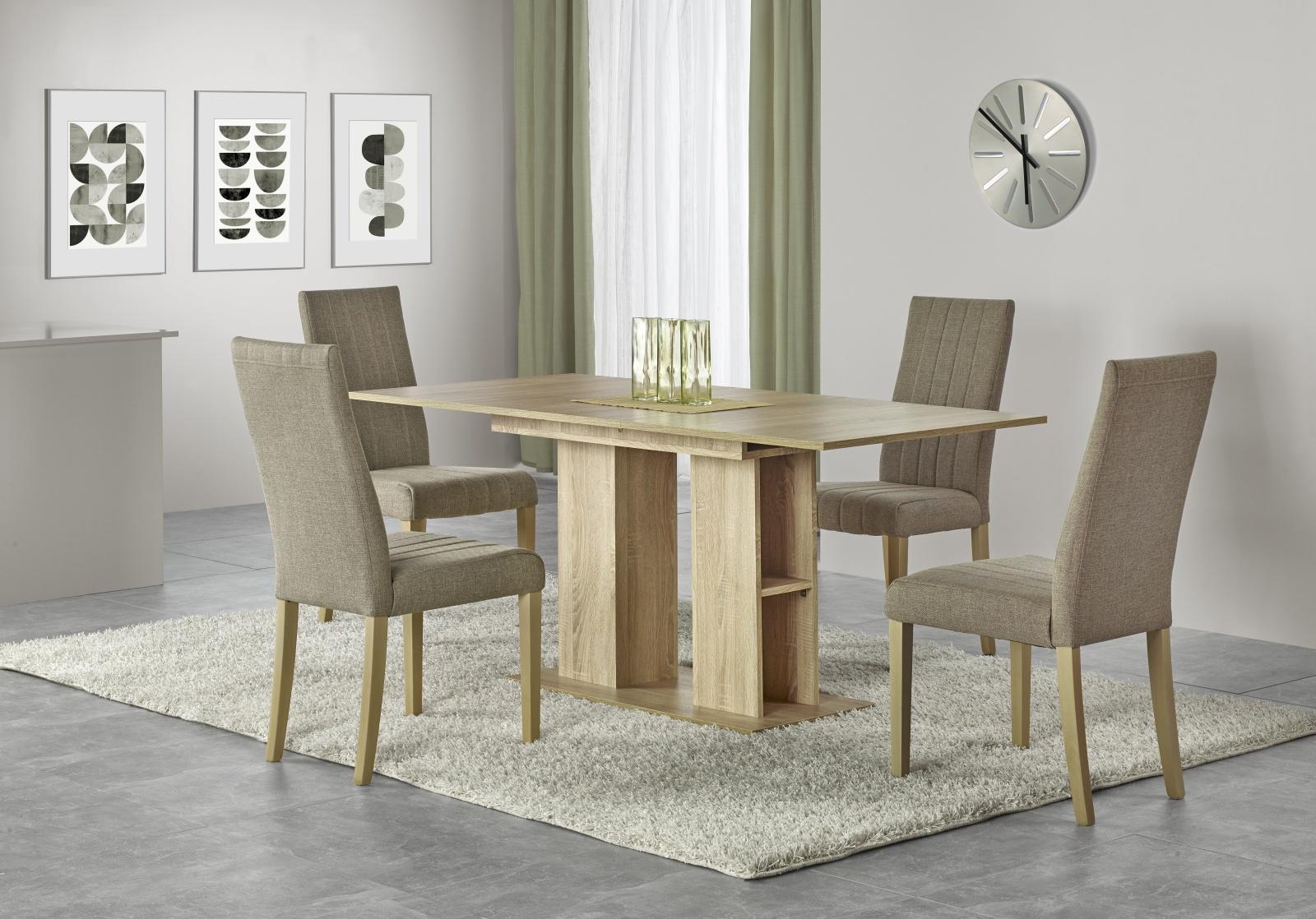 Halmar Jídelní stůl rozkládací KORNEL, 130/170x80 cm, dub sonoma