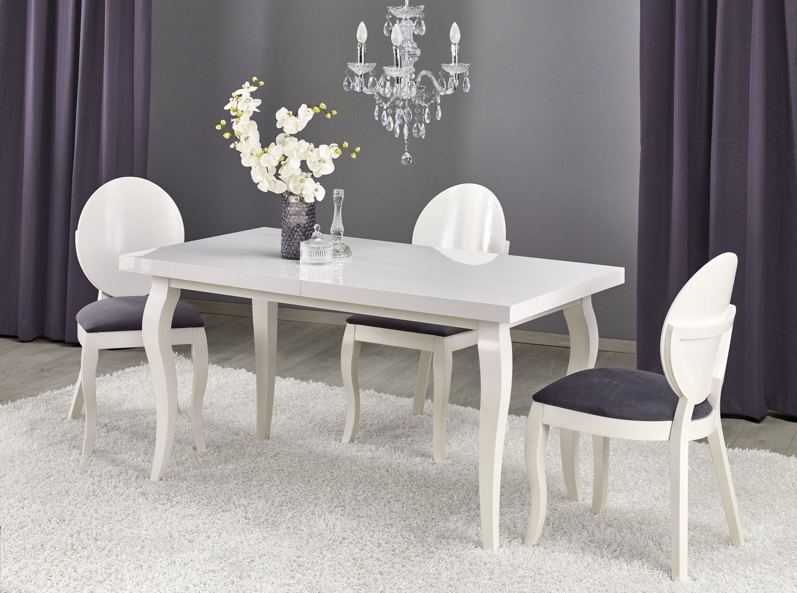 Halmar Jídelní stůl rozkládací MOZART 140/180x80 cm, bílý
