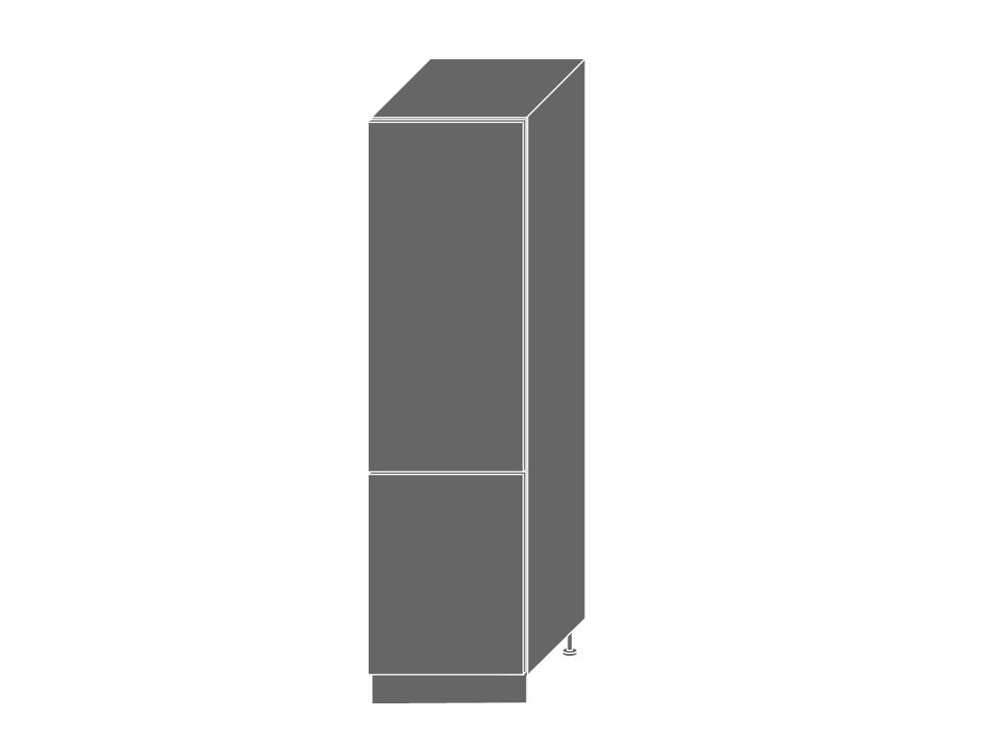 SILVER+, skříňka pro vestavnou lednici D14DL 60, korpus: bílý, barva: havana