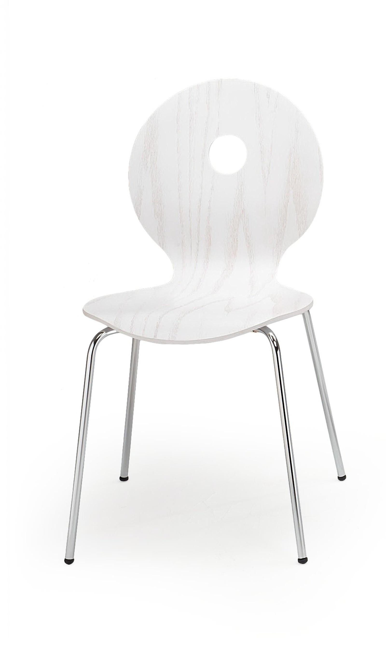 Jídelní židle K233, bílá