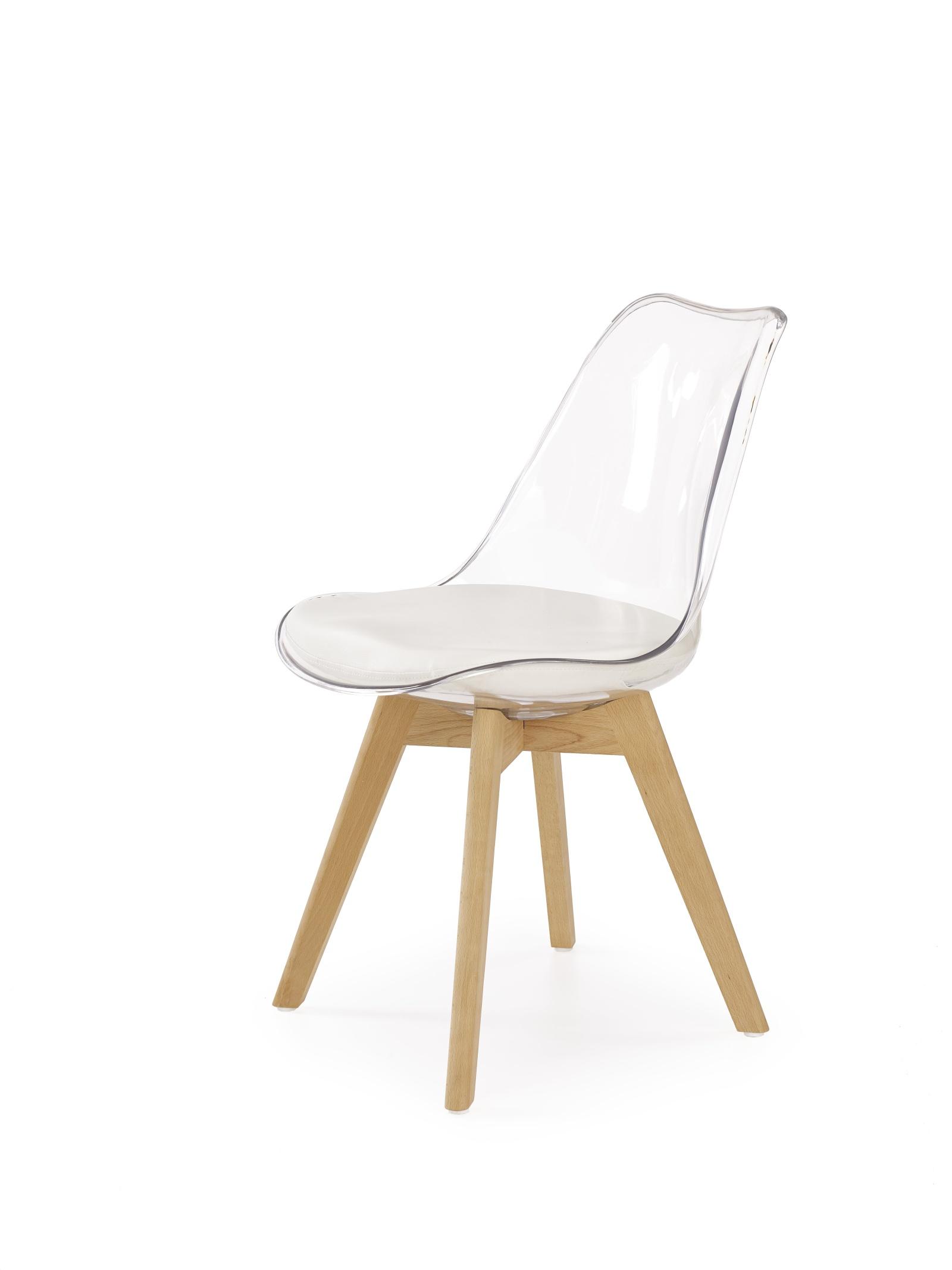 Halmar Jídelní židle K246, průhledná / buk