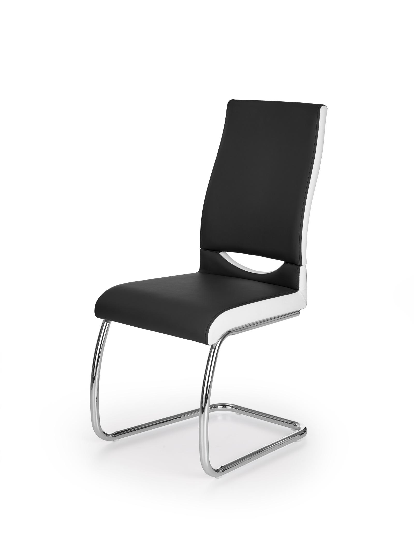 Halmar Jídelní židle K259, černá/bílá