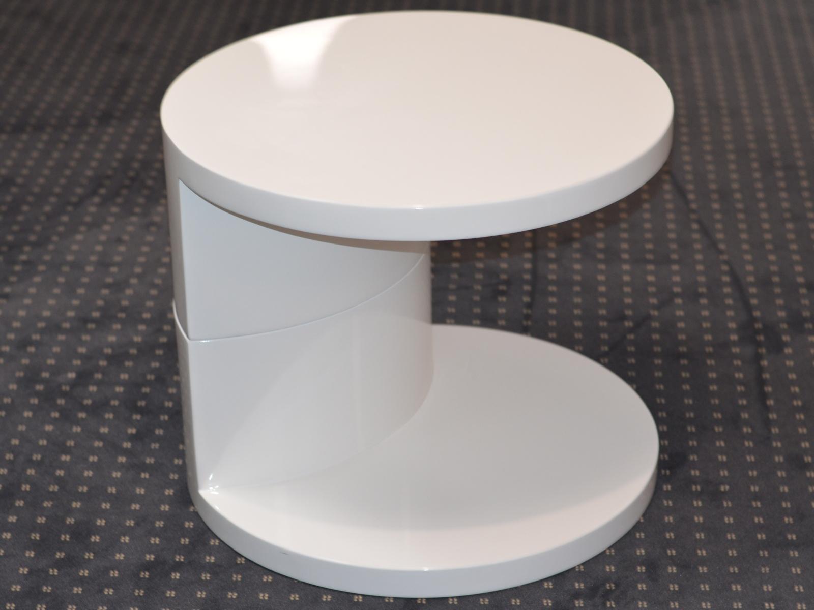 Smartshop AJDA stolek, vysoký bílý lesk OSOBNÍ ODBĚR