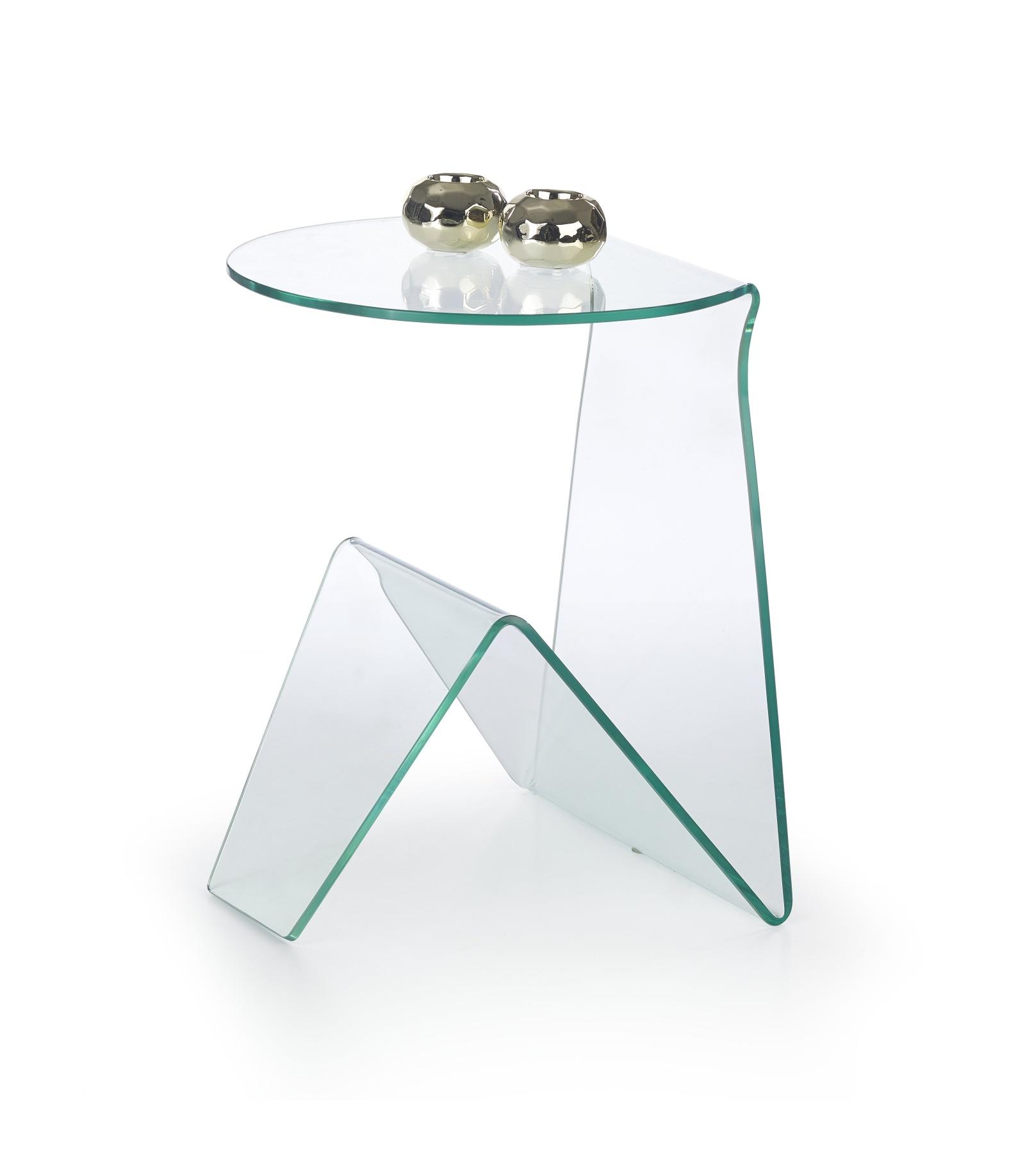 Halmar Konferenční stolek ARTENA, čiré sklo